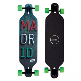 "Madrid Twin-Tip Longboard Trance DT Miami 39"" (99cm), Drop-Through Komplettboard Freeride Cruiser Boards -"