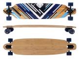 MAXOfit® Deluxe Longboard Charisma Blue No. 02, Drop Through, 106,5 cm, 7 Schichten, ABEC11 -