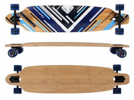 MAXOfit® Deluxe Longboard Charisma Blue No. 02, Drop Through, 106,5 cm, 7 Schichten, ABEC11 -