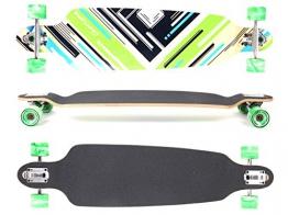 MAXOfit® Deluxe Longboard Charisma Green No. 64, Drop Through/Drop Down, 101 cm, 9 Schichten, ABEC11 -