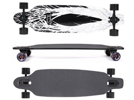 MAXOfit® Deluxe Longboard Gothic No.72, Drop Through, 91 cm, 9 Schichten, ABEC11 -