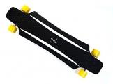 MAXOfit® Kunststoff Longboard XP 5.0 (gelb/weiss), 92 cm, extrem robust und sehr gut lenkbar, der neueste Trend -