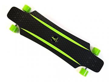 MAXOfit® Kunststoff Longboard XP 5.0 (grün/grün), 92 cm, extrem robust und sehr gut lenkbar, der neueste Trend -