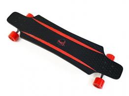 MAXOfit® Kunststoff Longboard XP 5.0 (rot/rot), 92 cm, extrem robust und sehr gut lenkbar, der neueste Trend -
