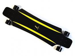 MAXOfit® Kunststoff Longboard XP 5.0 (schwarz/gelb), 92 cm, extrem robust und sehr gut lenkbar, der neueste Trend -
