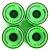 MAXOfit® Rollen für Longboard All Day Neongrün 70mm x 55mm -