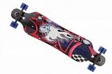 MCTECH 41 Zoll Longboard Retro Skateboard Cruiser Board Funboard Fancy Board Komplettboard Mit ABEC-9 High Speed Kugellager (Feuer & Hai) -