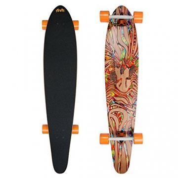 My Area | Z-Dance| high rebound Longboard | stylisches Kicktail Komplettboard aus kanadisches Ahorn | Länge: 116,5 cm / 46 inch - Breite: 22,9 cm / 9 inch -