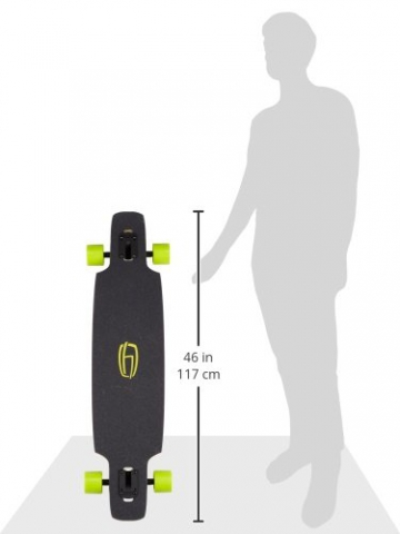 Olson&Hekmati Longboard Komplett Dd100 Basic 180 mm Rkp Achsen 70 mm Rollen Kugellager, dd100bcpl -