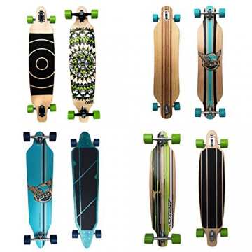 Osprey Longboards Pegasus, Limited Edition Komplettboard, Twin-Tip Drop-Through Freeride Skaten Cruiser Board -