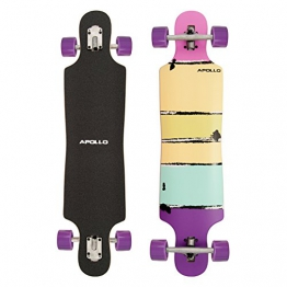 Papeete Purple Colour | Twin Tip DT Longboard - brand new longboard 2015 from the trendy and exclusive Apollo label | Stylish board made of Canadian maple | Length: 99cm / 39'' Width: 23.49cm / 9,25'' -