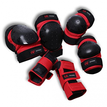 PHOENIX Erwachsene Inline Skates SchützerKomplettschutz Protektorenset Knieschoner Ellenbogenschützer Handgelenkschoner Schutzausrüstung -