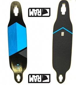 RAM Longboard Deck Solitary 2.0 Drop Through (limited) (blau) -
