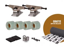 "RAM Street-Truck 5"" | 130 mm Longboard Achsen Setup inkl. Griptape (braun/silber/grün) -"