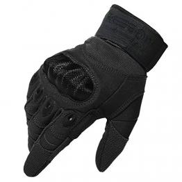 "Reebow Gear Herren voll Finger Handschuhe Army Racing Gloves Fahrradhandschuhe (Schwarz, S(7""/18cm-20cm)) -"