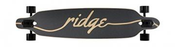 Ridge Longboard Regal Series Laser Cut Twin Tip, Blau/Schwarz, 41 Zoll, TT -