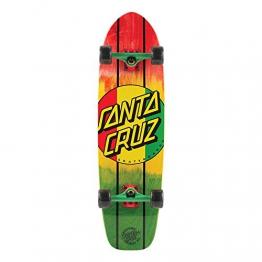 Santa Cruz Longboard Rasta Dot Jammer, red, 9.2 x 33.0 Zoll, SANLOBRADOJA -