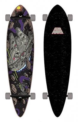 Santa Cruz Skateboard Longboard Star Wars Millenium Falcon Pintail, 9.5 x 39.0 Zoll, SANLOBSTWAMIFAPI -