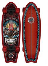 Santa Cruz Skateboard Longboard Sugar Skull Shark, 8.8 x 27.7 Zoll, SANLOBSUSKSH -