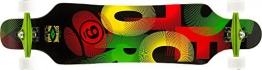 Sector 9 Longboard Mini Shaka 15 Complete, Raste, 9.75 x 40.5 Zoll, Pf144Crasta -