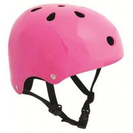 SFR Skateboard / Scooter / Inliner / Rollschuh Schutz Helm - Fluo Pink - Bmx, Inliner, Longboard Helm - Schutzausrüstung Skateboard Helm, Grösse:S/M 53-56cm -