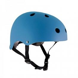 SFR Skateboard / Scooter / Inliner / Rollschuh Schutz Helm - Hellblau - Bmx, Inliner, Longboard Helm - Schutzausrüstung Skateboard Helm, Grösse:S/M 53-56cm -