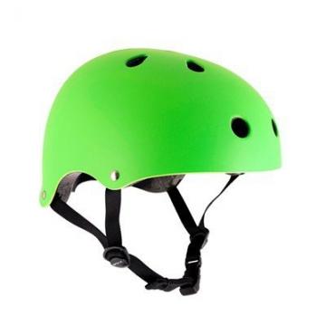 SFR Skateboard / Scooter / Inliner / Rollschuh Schutz Helm - Neon Grün - Bmx, Inliner, Longboard Helm - Schutzausrüstung Skateboard Helm, Grösse:S/M 53-56cm -