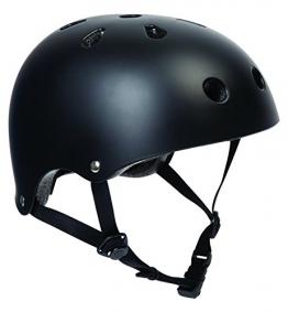 SFR Skateboard / Scooter / Inliner / Rollschuh Schutz Helm - Schwarz - Bmx, Inliner, Longboard Helm - Schutzausrüstung Skateboard Helm, Grösse:S/M 53-56cm -