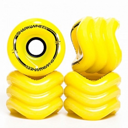 Shark Wheels Longboard Rollen Sidewinder 70mm/78A (4er Set) + Fantic26 Sticker (gelb) -
