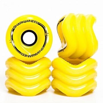 Shark Wheels Longboard Rollen Sidewinder 70mm/78A (4er Set) + Fantic26 Sticker (gelb) -