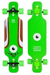 SOLID Eye Kid Kinder Mini Cruiser drop through twin tip Longboard Grün -
