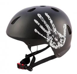 """Sport DirectTM BMX-Skate Erwachsene: """"Die Hand"""" Erwachsene: NB: 55-58 cm Cycle schwarz Fahrrad Helm CE EN1078 TÜV Zulassungen -"""