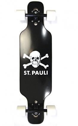 St.Pauli Kinder Mini Cruiser drop through twin tip Longboard Schwarz -