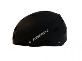STREETSTAR Helm S schwarz/matt für Waveboard, Skateboard, BMX, -