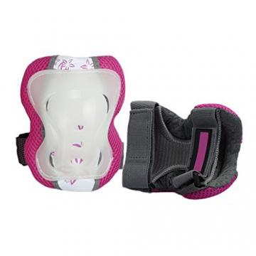 SymbolLife Schonerset Kinder Schutzausrüstung Knie Elbow Handgelenk Pad Set für Skate, Skateboard, Roller Skate, BMX und anderen Extreme Sports, Groesse S, Pink -