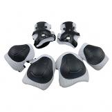 Topfire kinder Schutzset - Kinder Knie Ellenbogen Handgelenk Junior Schützer Protektoren Set für Rollschuhe Skateboard Rollerskates inliner Sport - Weiß -