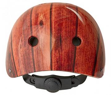 YEAH! Freestyle Helm Fahrrad Stuntscooter Skateboard viele Farben/Designs, Farbe:Holz;Grösse:M -