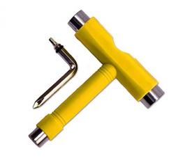 Demarkt gelb Skate T Tool Skateboard Longboard Metal Werkzeuge -