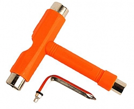 Demarkt Orange Skate T Tool Skateboard Longboard Metal Werkzeuge -