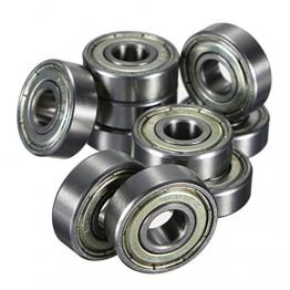 FamilyMall(TM)10 Stk. Kugellager miniatur Rillenkugellager 608 ZZ 8 x 22 x 7mm Bearing Stahl -